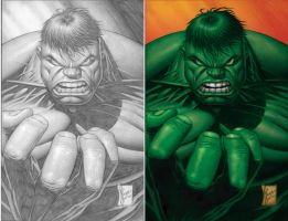 Dale Keown Hulk Close-up by steveart81