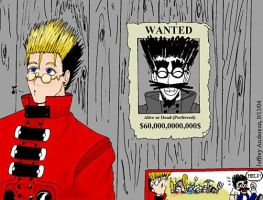 Trigun: Wanted Poster by SailorEnergy