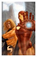 Ironman and The Sentry by StephenSchaffer