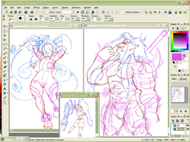 WIPs Kumon and Pie by GysKing1