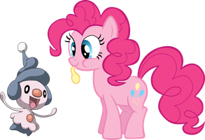 Pinkie Pie and Mime Jr.