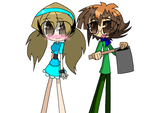 Alexis and Judai as Melody and Jeremy by HooeySmarts333