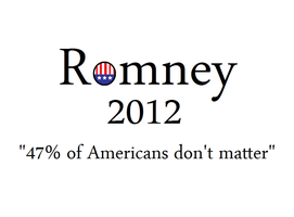 Romney poster by ThatCurrentNewsGuy