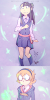 Little Witch Academia: Akko, Lotte and Sucy by SolKorra