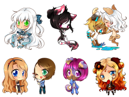 Chibi commissions batch by Desiree-U