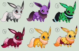 Eevee adopts batch by LilisAdoptables
