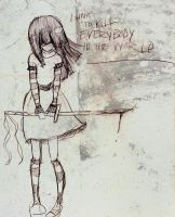 I want to kill everybody by LadyDeathCandy