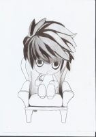 Deathnote L Lawliet cute one by angelborndevil