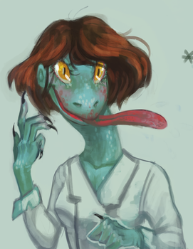 Snek Lady Hiss Hiss by Clamantes
