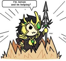 League of Legends Jarvan Chibi by sakashiiii
