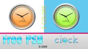 Clock PSD +PNG - 2 colors by Andrei-Oprinca