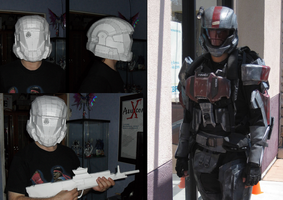 Halo cosplay in progress by Vejit