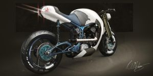 Motorcycle - Cafe racer/Streetfighter 2 by niklasoh