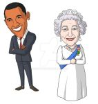 Obama and the Queen by gwendy85