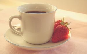 coffee and strawberries by frankenteen