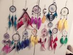 A bunch of dreamcatchers by MissBlackMinded