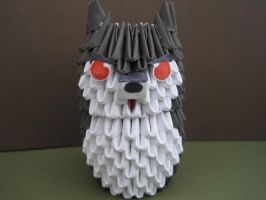 3d origami wolf by SilentWolfCreations