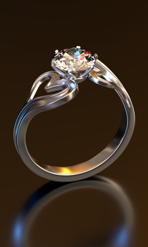 Heart-shaped diamond ring [Re-rendering] View2 by afsan-deviant