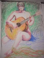 playing guitar (model drawing) by SOV3000