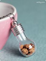 Miniature Jar of Cookies Pendant by Aiclay
