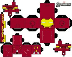 Iron-Man MARK VII cubeecraft 2.0 by briciocl