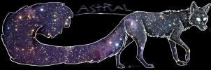 Astral the freaking Galaxy Coyote by foxyko