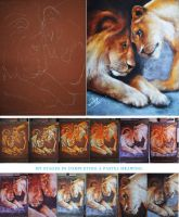 A PASTEL DRAWING IN STAGES by JALpix