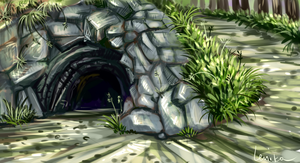 Forest Cave by Lenika86