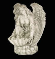 Angel Statue 2 by AshenSorrow