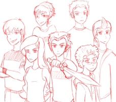 class of the titans anime WIP by jezaica-kitsune