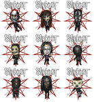 Slipknot Chibis by divadonna224