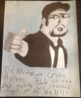 The Nostalgia Critic (Charcoal Drawing) by FireFeyRose412