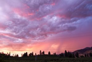 Purple Pink Stormy Sky by FoxStox