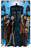 The First Doctors 11x17 Color Art by herbertzohl