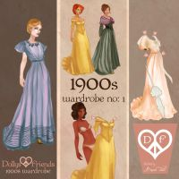 New Fashion Paper Dolls Dollys and Friends 1900s by BasakTinli