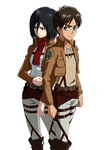 Mikasa And Eren by Narusailor