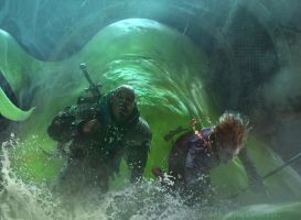 Magic the Gathering: Acidic Slime by Cryptcrawler