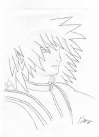 Old drawing of Riku by M by MarioTheArtistM