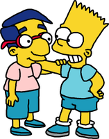 Bart and Milhouse Best Pals Ever by Mighty355
