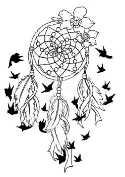 Dream Catcher Birds of a Feather Tattoo by Metacharis