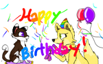 Happy birthday! 4 Beckitty by Pantherfox101
