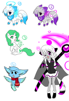 Adoptables :3 by the88cherryice