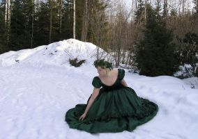 Green Gown 3 by Eirian-stock