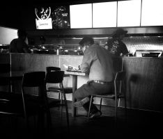 Cross Leg Chinese Fast Food by myoung4828
