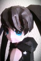 Black Rock Shooter Papercraft by me~Face-Detail! by LadyEdile