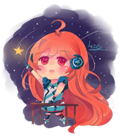 Miki Vocaloid Chibi by KyouKaraa