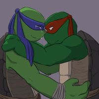 Leo/Raph Touch by ZephPirate