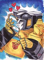 Sunstreaker And His Mirror by blackhellcat