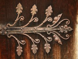 Old Door Hinge by NickiStock