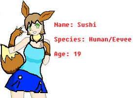 Sushi the Human Eevee by artfanloveswolves